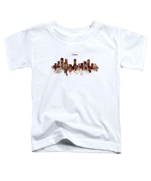Denver Skyline Silhouette Toddler T-Shirt