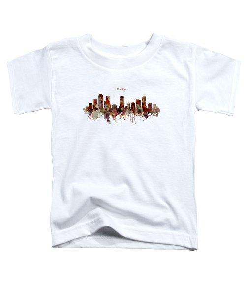 Denver Skyline Silhouette Toddler T-Shirt