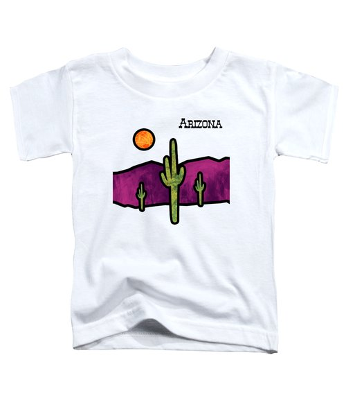Desert Stained Glass Toddler T-Shirt by Methune Hively