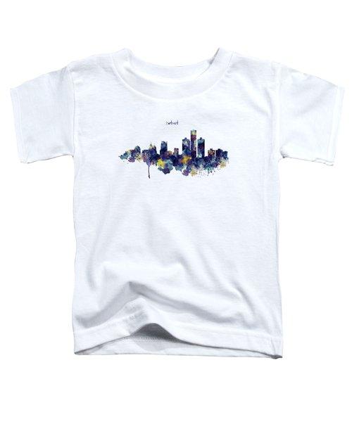 Detroit Skyline Silhouette Toddler T-Shirt