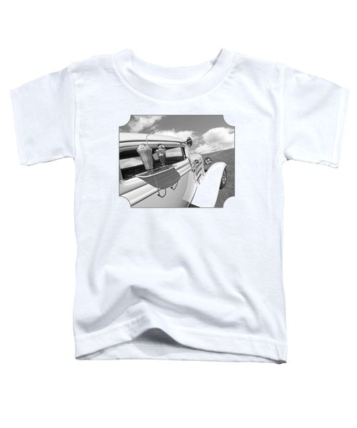 Deuce Coupe At The Drive-in Black And White Toddler T-Shirt