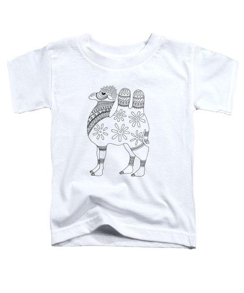 Difficult Camel Toddler T-Shirt by Sarah Rosedahl