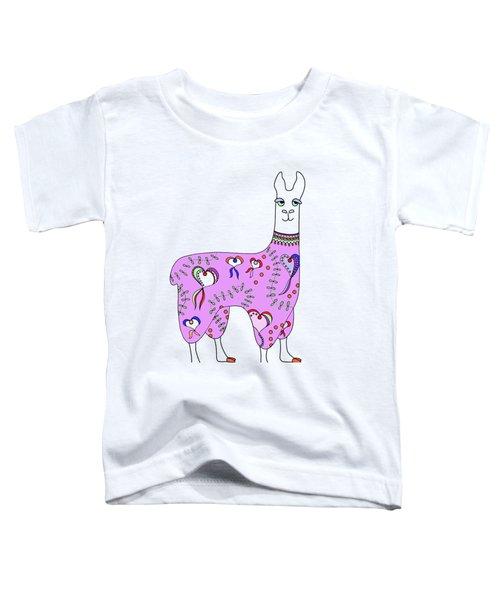 Difficult Llama Lavender Toddler T-Shirt by Sarah Rosedahl