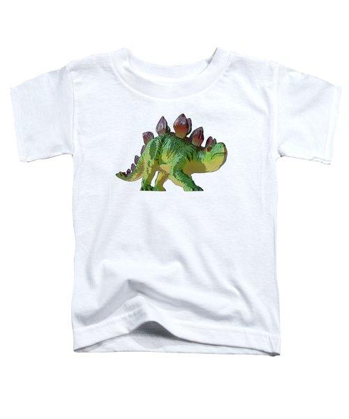 Dino Stegosaurus Toddler T-Shirt by Miroslav Nemecek