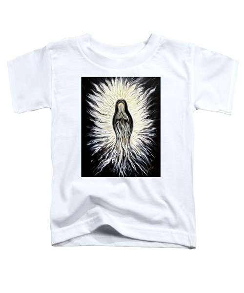 Divine Mother Black And White Toddler T-Shirt