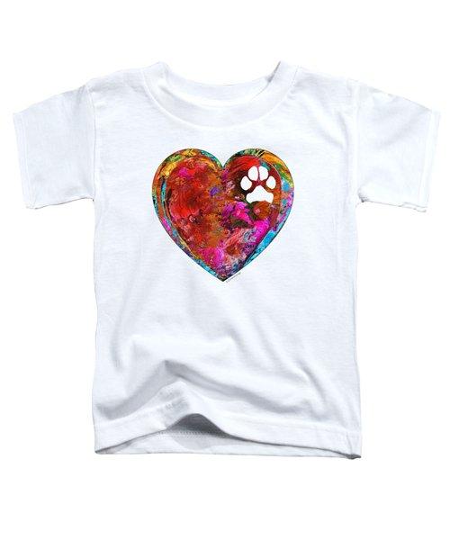 Dog Art - Puppy Love 2 - Sharon Cummings Toddler T-Shirt