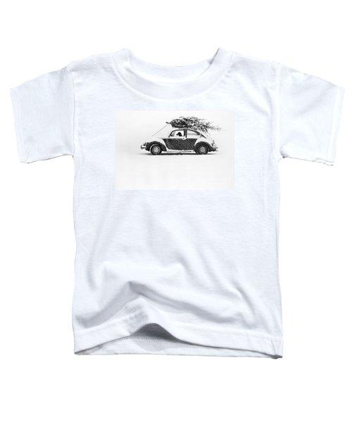Dog In Car  Toddler T-Shirt