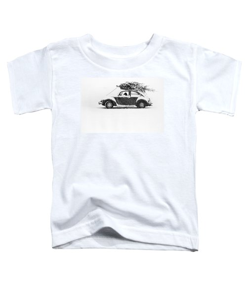 Dog In Car  Toddler T-Shirt
