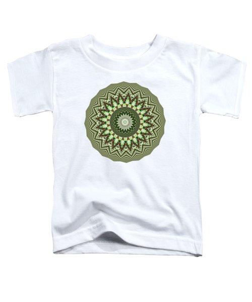 Dome Of Chains Mandala By Kaye Menner Toddler T-Shirt by Kaye Menner