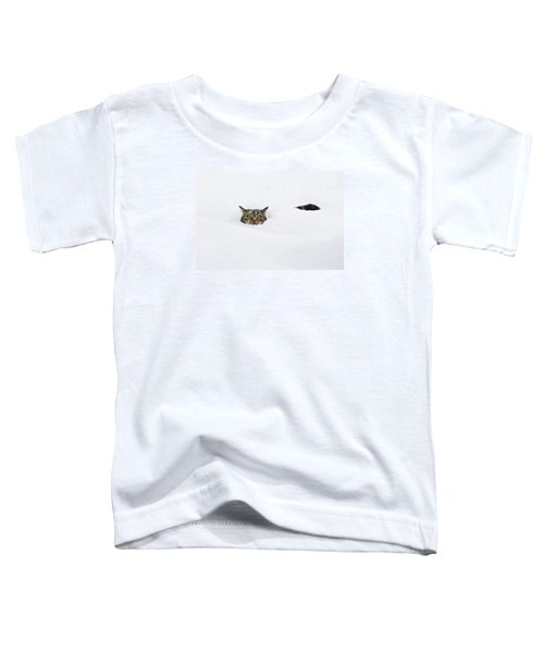 Domestic Cat Felis Catus In Deep Snow Toddler T-Shirt