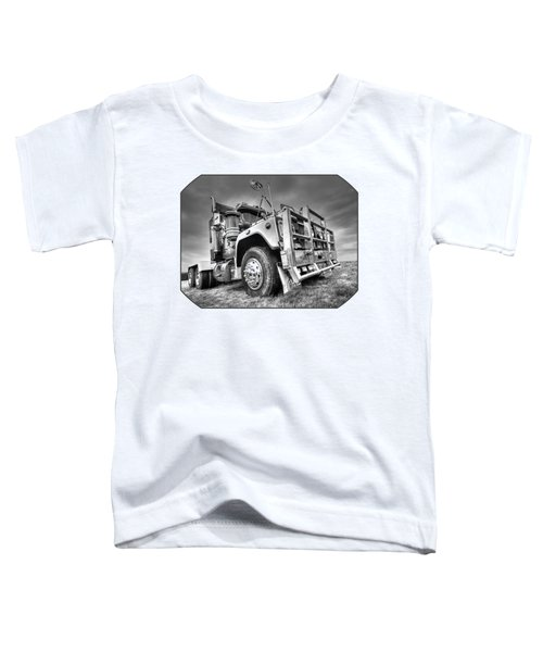 Done Hauling - Black And White Toddler T-Shirt