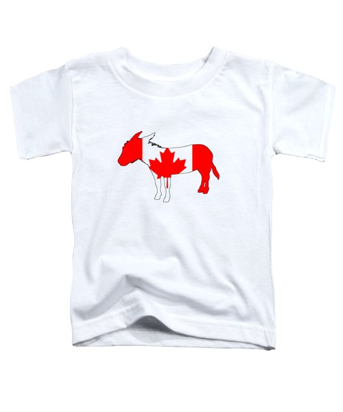 Donkey Canada Toddler T-Shirt by Mordax Furittus