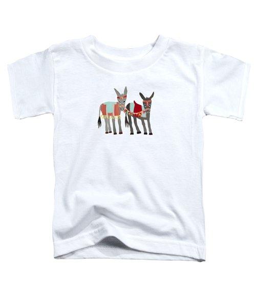 Donkeys Toddler T-Shirt by Isoebl Barber