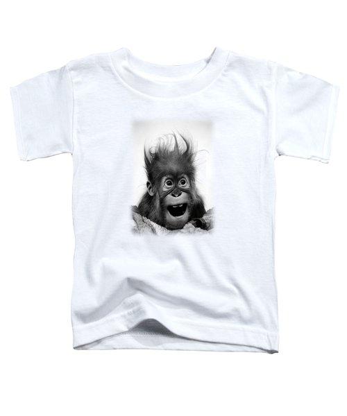 Don't Panic Toddler T-Shirt by Miro Gradinscak