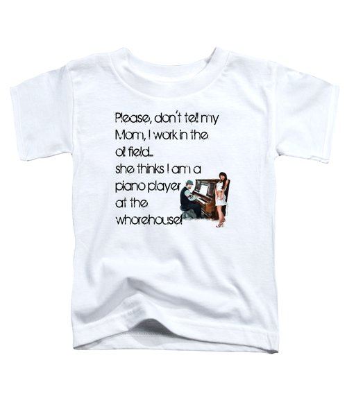 Toddler T-Shirt featuring the digital art Don't Tell Mom by Susan Kinney