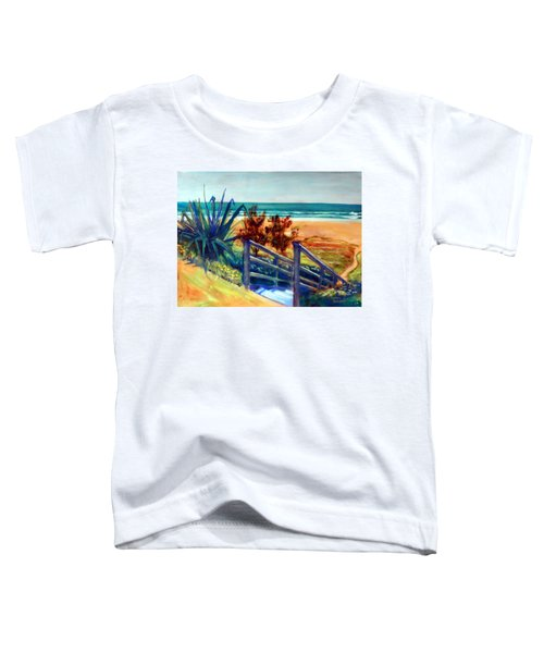 Down The Stairs To The Beach Toddler T-Shirt by Winsome Gunning