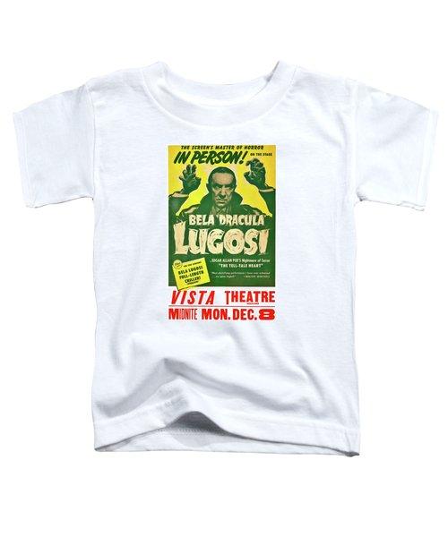 Dracula, Bela Lugosi, Vintage Horror Movie Toddler T-Shirt
