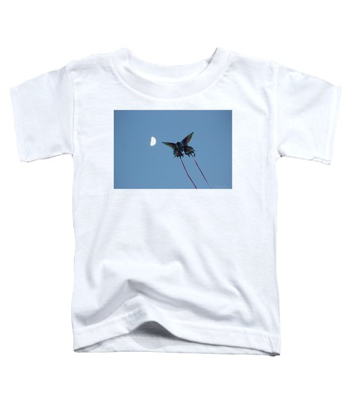 Dragonfly Chasing The Moon Toddler T-Shirt