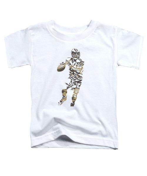 Drew Brees New Orleans Saints Pixel Art T Shirt 1 Toddler T-Shirt