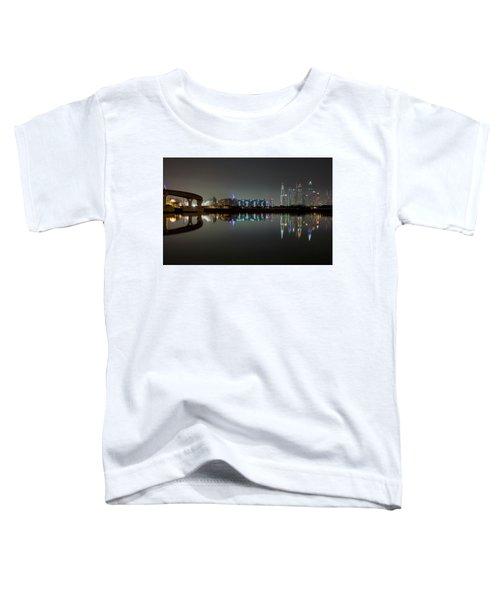 Dubai City Skyline Night Time Reflection Toddler T-Shirt