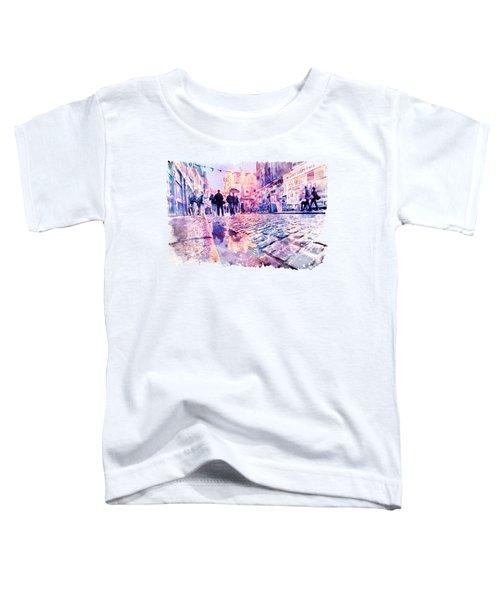 Dublin Watercolor Streetscape Toddler T-Shirt