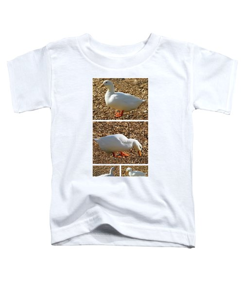 Duck Collage Mixed Media A51517 Toddler T-Shirt