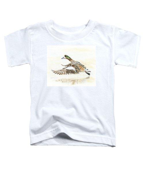 Duck Taking Off. Toddler T-Shirt