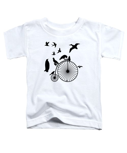 Dude The Birds Are Flocking Transparent Background Toddler T-Shirt by Barbara St Jean
