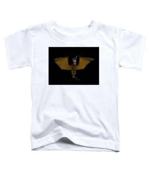 Dunjon T-shirt Print 2 White Toddler T-Shirt