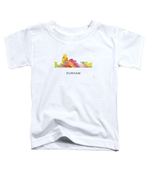 Durham North Carolina Skyline Toddler T-Shirt by Marlene Watson