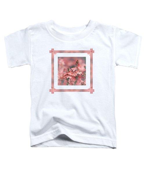 Dusky Pink Ribbons Toddler T-Shirt