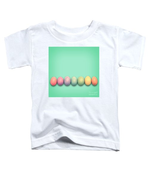 Easter Eggs, Green Toddler T-Shirt