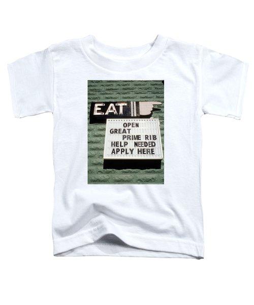 Eat Sign Toddler T-Shirt