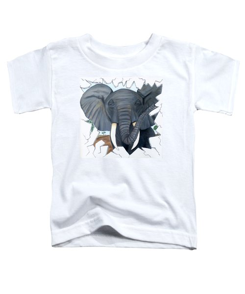 Eavesdropping Elephant Toddler T-Shirt