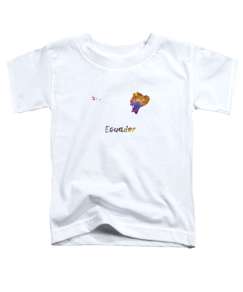 Ecuador In Watercolor Toddler T-Shirt