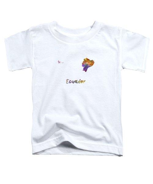 Ecuador In Watercolor Toddler T-Shirt