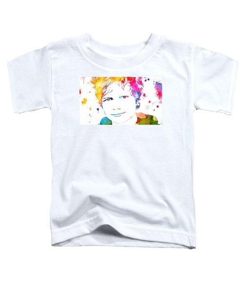 Ed Sheeran Paint Splatter Toddler T-Shirt by Dan Sproul