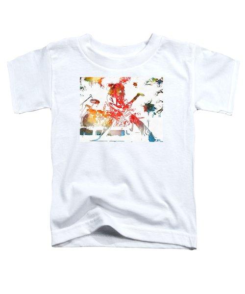 Eddie Van Halen Paint Splatter Toddler T-Shirt
