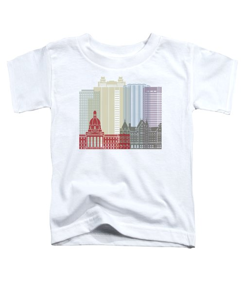 Edmonton Skyline Poster Toddler T-Shirt