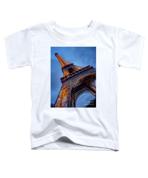Eiffel Dressed In Gold Toddler T-Shirt