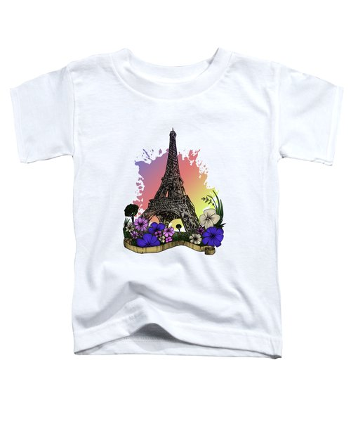 Eiffel Tower Toddler T-Shirt by Adam Santana