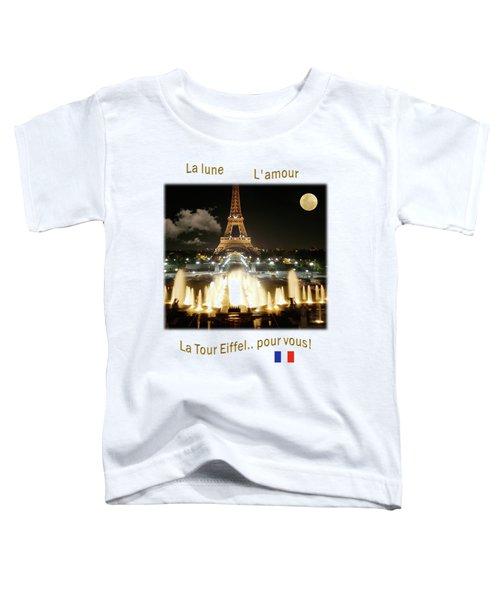 Eiffel Tower At Night Toddler T-Shirt