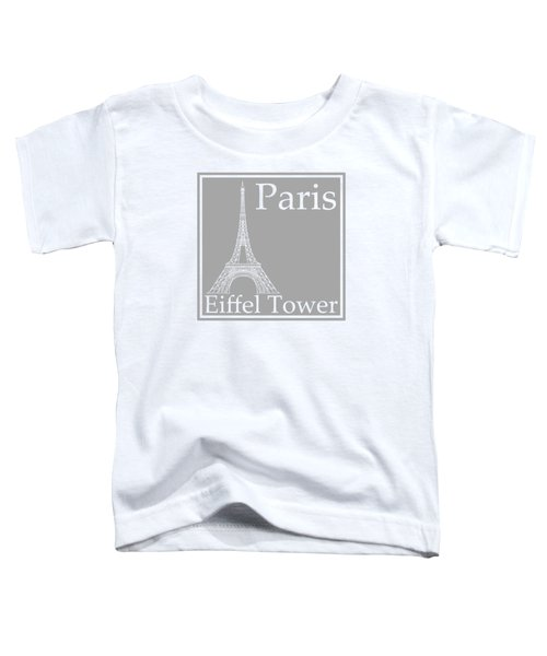 Eiffel Tower In Gray Toddler T-Shirt by Custom Home Fashions