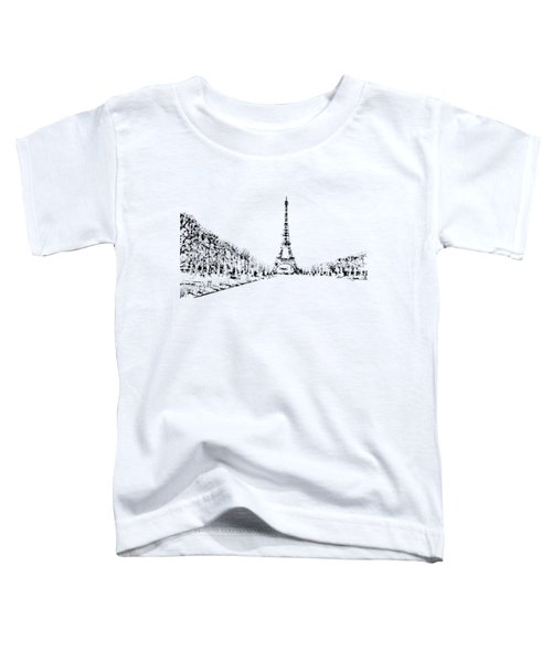 Eiffel Tower Toddler T-Shirt by ISAW Gallery