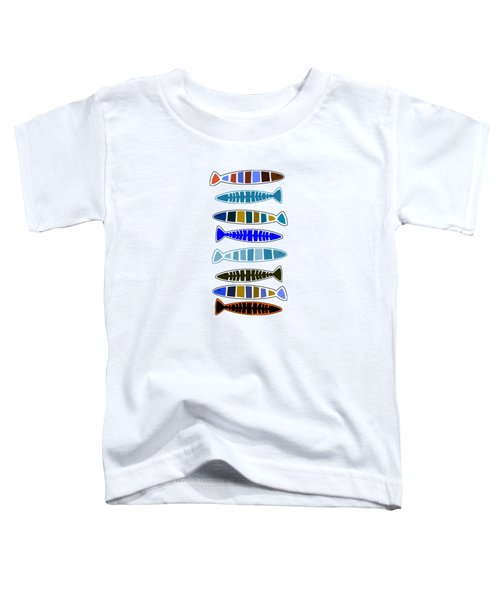 Eight Fish In A Row Toddler T-Shirt