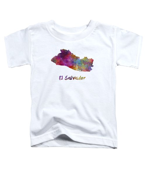 El Salvador In Watercolor Toddler T-Shirt