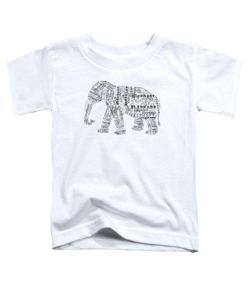 Elefont Noir Toddler T-Shirt by Heather Applegate