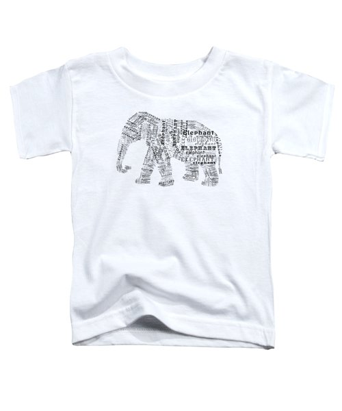 Elefont Noir Toddler T-Shirt
