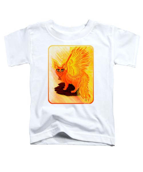 Elemental Fire Fairy Cat Toddler T-Shirt