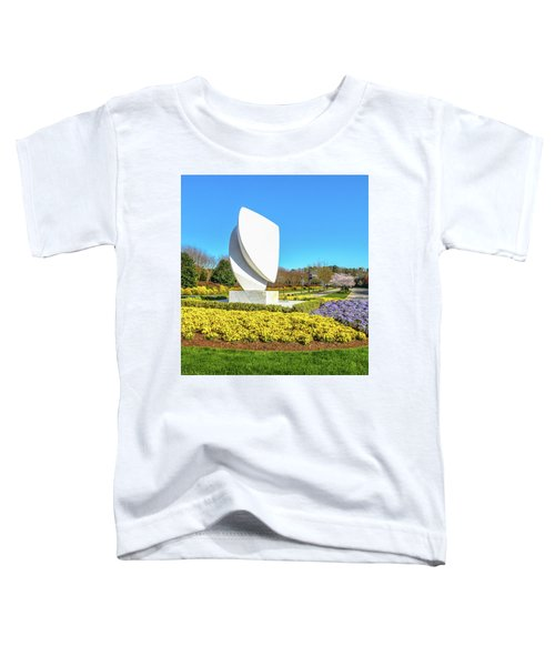 Elements Sculpture At Christopher Newport University In Springtime Toddler T-Shirt